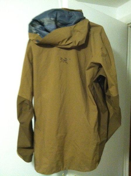 """Arcteryx Stingray Jacket XL """"Rawhide"""" back of the jacket"""