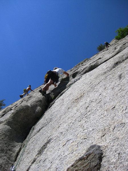 Rock Climbing Photo: Leading P1