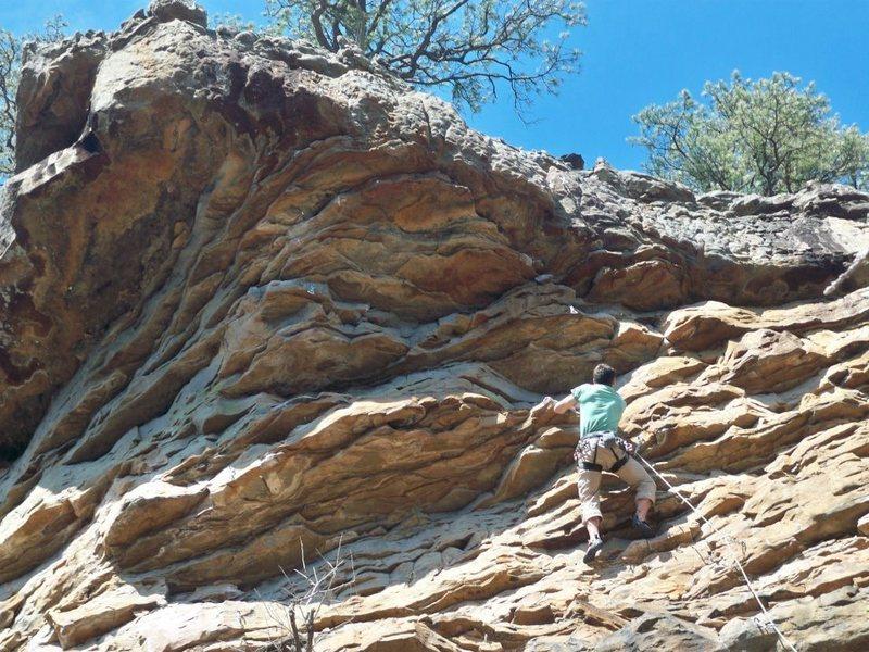 Rock Climbing Photo: Finishing section of Boronocus