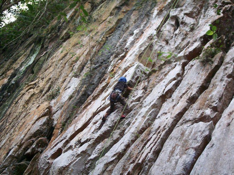 Rock Climbing Photo: Elna Coffman warming up