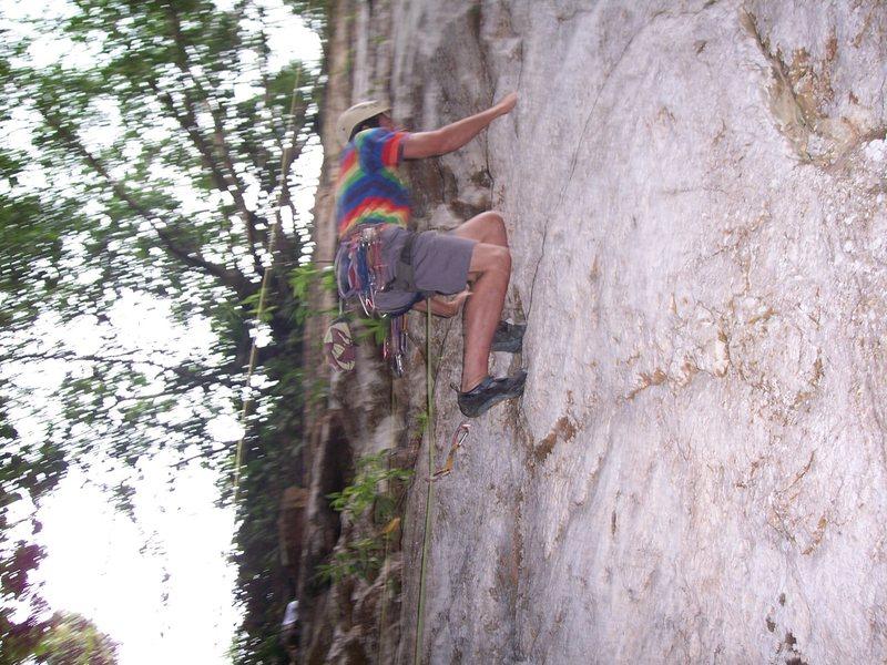 "Rock Climbing Photo: Eric Coffman leading ""Sadako"""