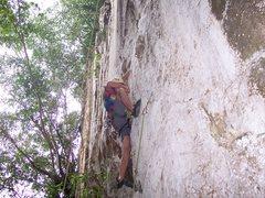 "Rock Climbing Photo: Eric Coffman leading ""Sadako"" #3"