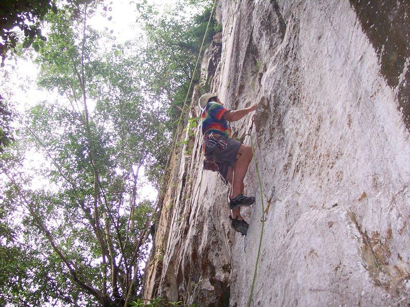"Rock Climbing Photo: Eric Coffman leading ""Sadako"" #4"