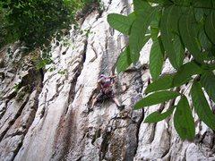 "Rock Climbing Photo: Eric Coffman getting the handjam on ""Sadako&q..."