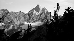 Rock Climbing Photo: At CMC camp, looking south toward the Cathedral gr...