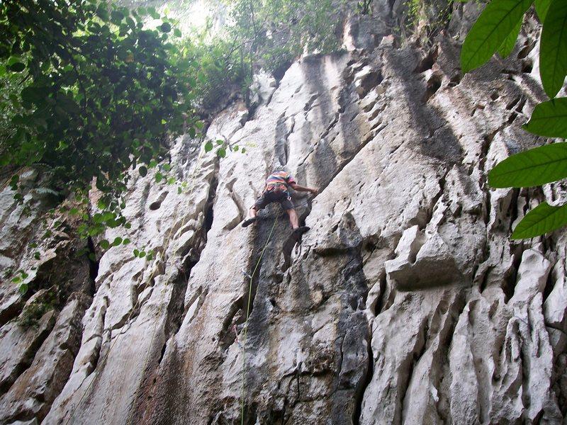 "Rock Climbing Photo: Eric Coffman leading ""Sadako"" #9"