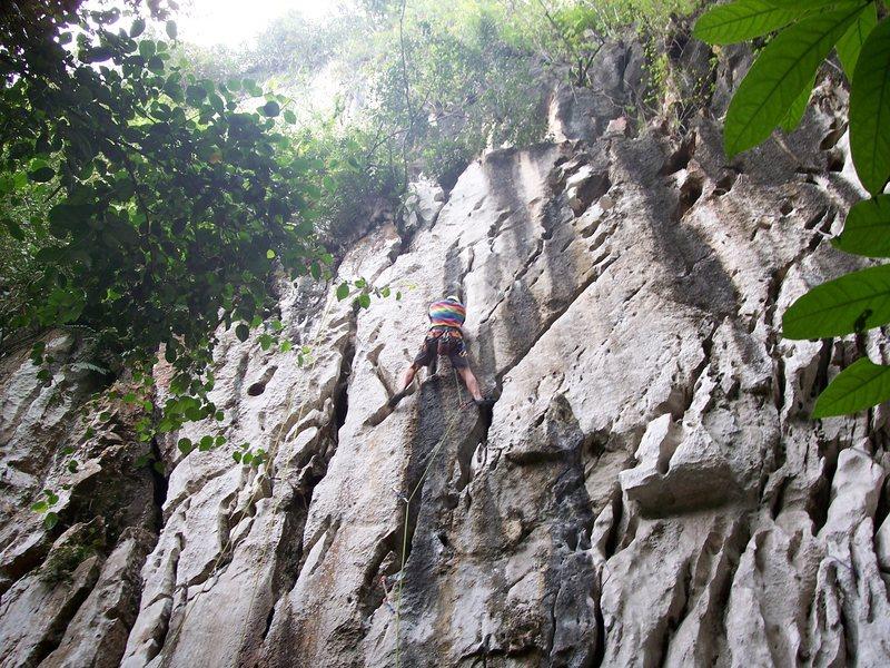 "Rock Climbing Photo: Eric Coffman leading ""Sadako"" #10"