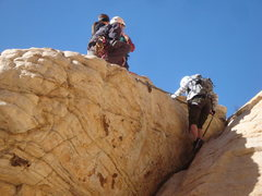 Rock Climbing Photo: Should you choose to rap of the anchors to the bas...