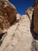 Rock Climbing Photo: This is a look up at the wall you need to scramble...