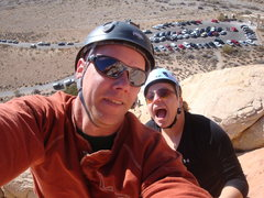 Rock Climbing Photo: The Lovely Cyn & I at the top of Mans Best Friend.