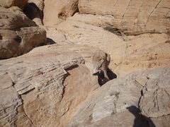 Rock Climbing Photo: The Lovely Cyn hiking out of the east approach of ...