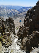 Rock Climbing Photo: Palisade Basin side (notch between Sill and Pol)