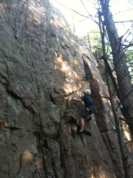 Rock Climbing Photo: Razorback is to the left of the climber