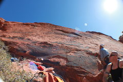 Rock Climbing Photo: A look up the route, Scent of Ultraman. A great ro...