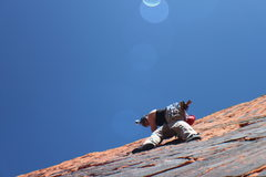 Rock Climbing Photo: Working my way up Speed Racer.