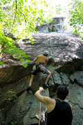 Rock Climbing Photo: checking the gear situation out, great belayer giv...