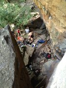 Rock Climbing Photo: Belay hangout at the base of supercrack 5.9, New R...