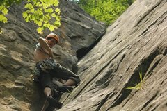 Rock Climbing Photo: Screamer crack, 5.8, New River Gorge