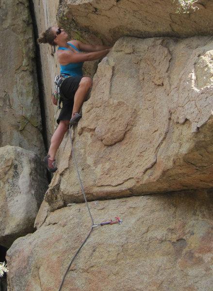 Rock Climbing Photo: Parker leading.