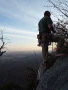 Rock Climbing Photo: Justin at the top of Wrist, 5.6, Gunks