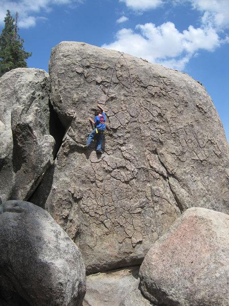 Rock Climbing Photo: Another shot of Bryn following.
