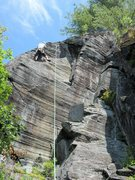 Rock Climbing Photo: dave t at the top