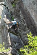 Rock Climbing Photo: dave on the lower half of the route... beware its ...