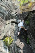 Rock Climbing Photo: dave up high on the route...