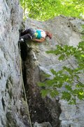 Rock Climbing Photo: tegan... yup the knee bars work up there... it giv...