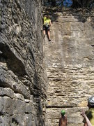 Rock Climbing Photo: Jody topping out on Corin's Corner.