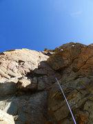 Rock Climbing Photo: Vanya leading P1.
