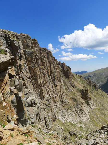 Rock Climbing Photo: the buttress from the approach ramp