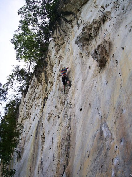 "Rock Climbing Photo: Eric Coffman Leading ""Vina Kulafu""5.11a/..."