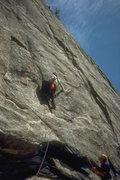Rock Climbing Photo: Steve Eddy first assent, beginning of first pitch