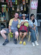 Rock Climbing Photo: about to enjoy fresh coconuts with Elna and Sarah!