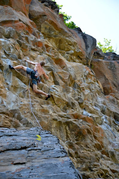 Rock Climbing Photo: me having a blast on Relics