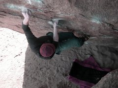 Rock Climbing Photo: Bowling Pin (Sit Start)