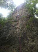 Rock Climbing Photo: Climbing 'The Razor' on top rope, July 22nd, 2012.