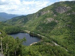 Rock Climbing Photo: Chapel Pond view from atop of Bob's Knob.  Washbow...