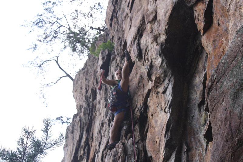 Rock Climbing Photo: Davids Castle Wall  Fourplay (5.4) trad  Crowders ...