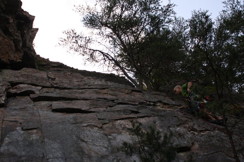 Nuke The Whales Wall<br> <br> Whale Of A Tale (5.5) trad<br> <br> Crowders Mountain State Park, North Carolina