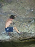 Rock Climbing Photo: a few moves from the start of REDMAN