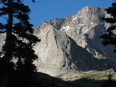 Rock Climbing Photo: Spearhead from Black Lake, with Chiefshead in back...