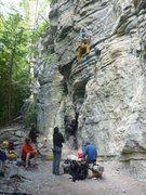 Rock Climbing Photo: Dani on 6c+ p1 of BGL