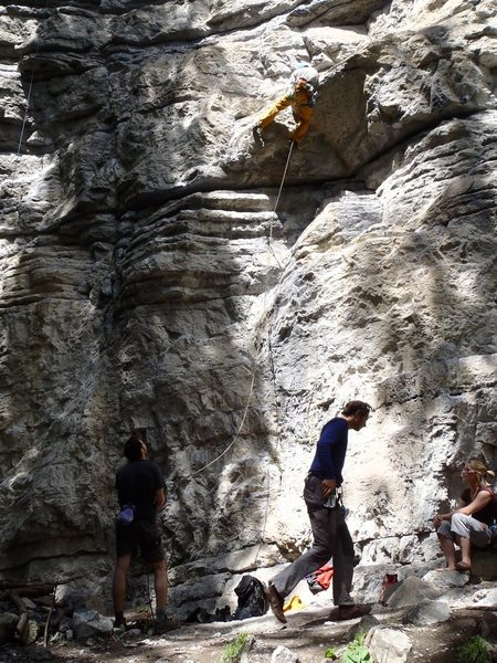 Rock Climbing Photo: pulling 6b Hyper