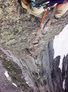 Rock Climbing Photo: Looking down from the 1st tower pitch