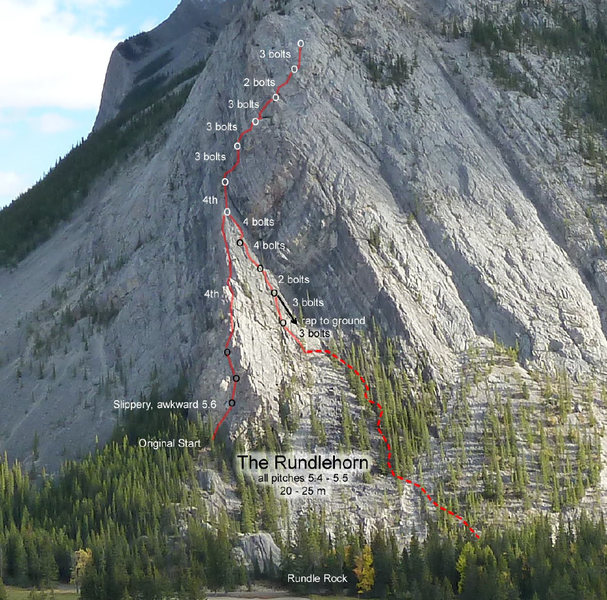Rock Climbing Photo: Rundlehorn Topo
