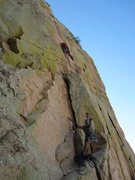 Rock Climbing Photo: Climber on pitch 2