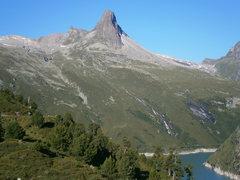 Rock Climbing Photo: Zervreilahorn as seen from the carpark