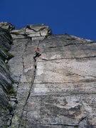 Rock Climbing Photo: Fanstastic crack climbing in pitch two